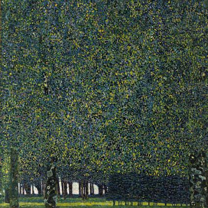 克林姆,《公園》,110,4 x 110,4 cm,1910。