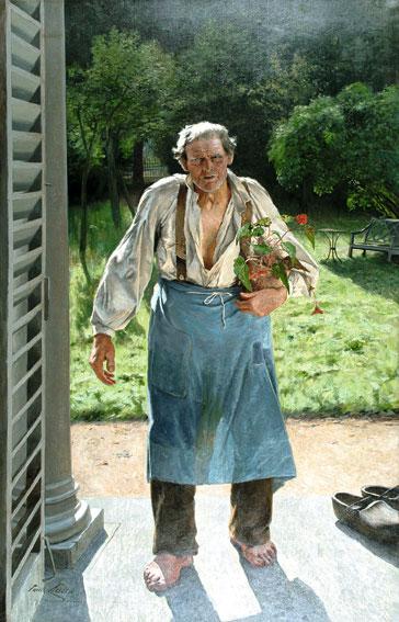 克羅斯,《老園丁》,216 x 140 cm, 1885。