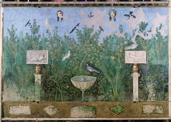 龐貝古城發掘之壁畫, 約西元30-35年, 200 x 275 cm。