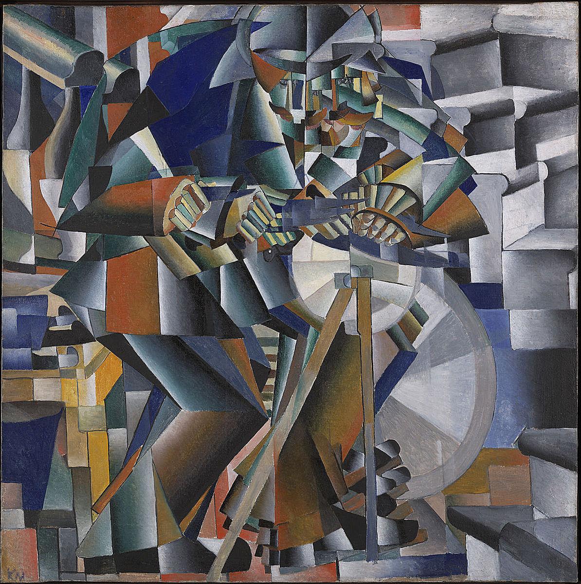 卡西米爾·馬列維奇(Kasimier Malevich)《磨刀人》