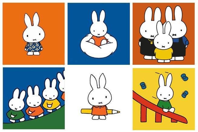 米飛兔Miffy 為了兒童繪本發展極簡用色
