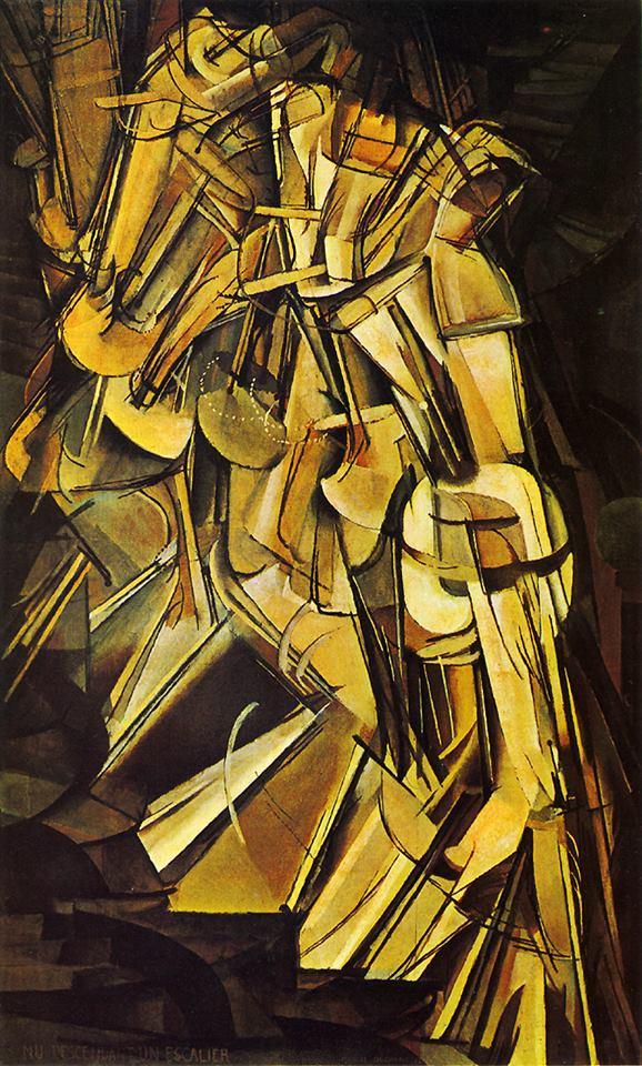 馬歇爾•杜尚《下樓梯的裸女:第二號,1912》