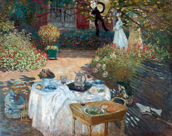 莫內,《午餐》,160 x 201 cm,1873。