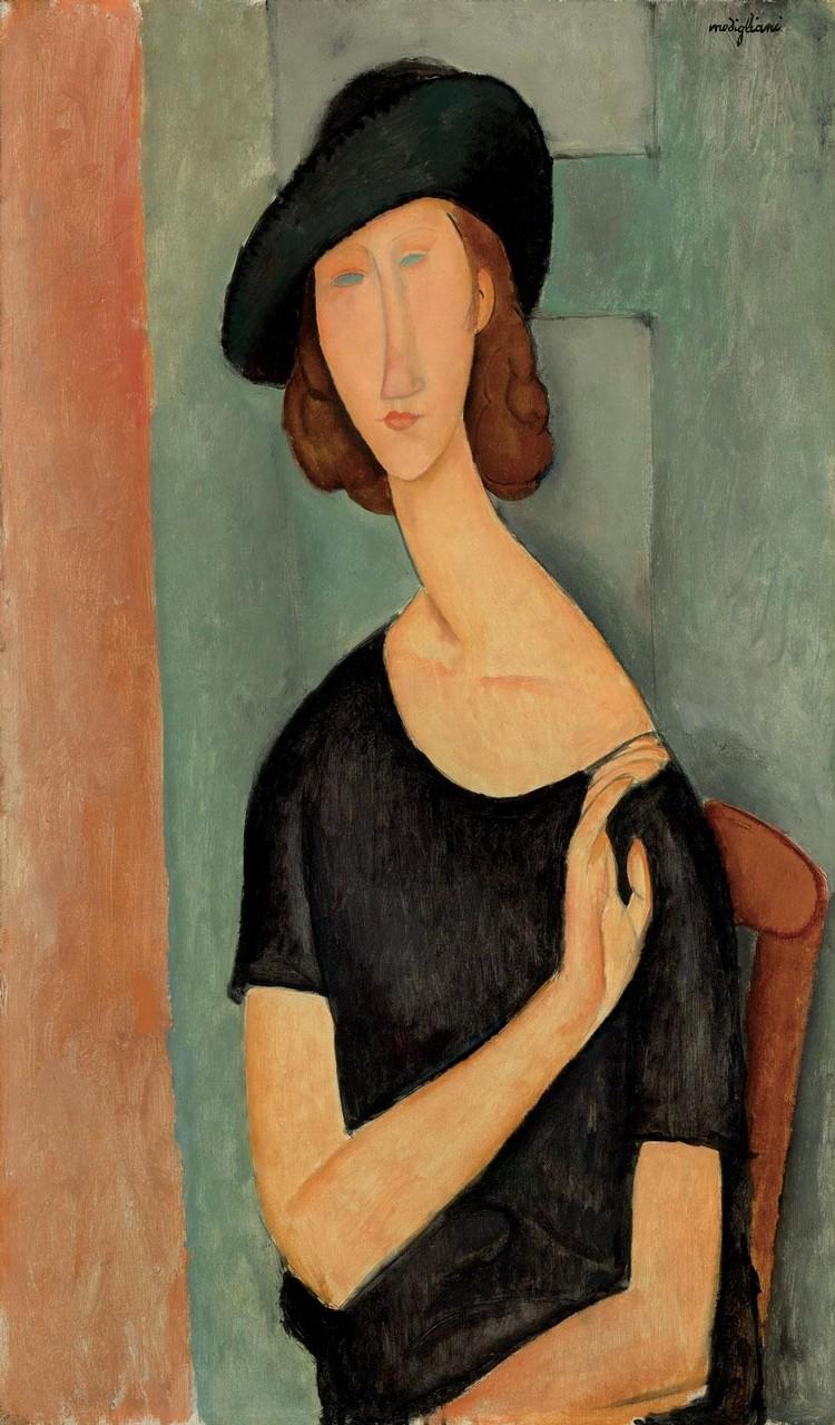 莫迪里亞尼,《蔣妮.艾必丹娜》,1919。