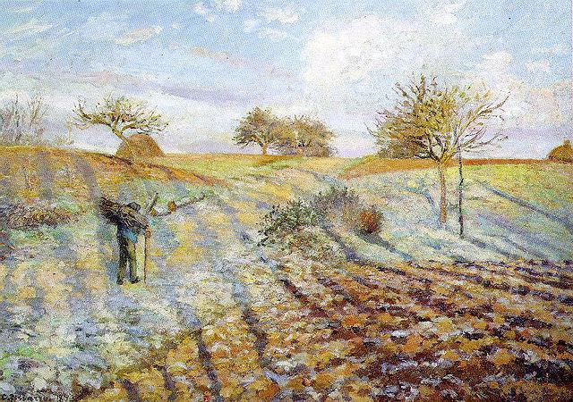 畢沙羅,《寒霜》,1873。