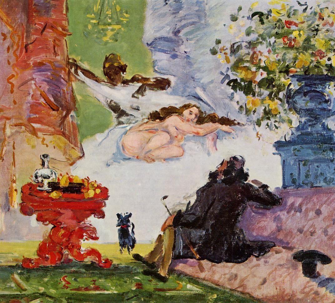 塞尚,《現代奧林匹亞》,1873/4。