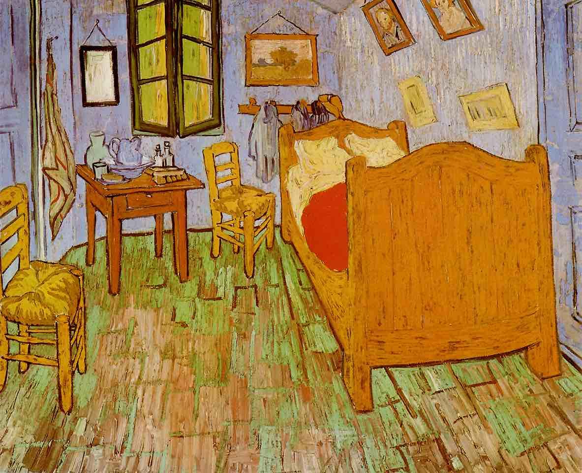 梵谷,《臥室》,1888。